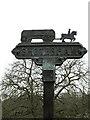 TM2499 : Shotesham Village sign by Geographer