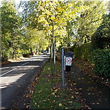 SO4693 : Please drive carefully request on a litter bin in  Church Stretton by Jaggery