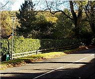 SO4693 : National Grid box in Church Stretton by Jaggery