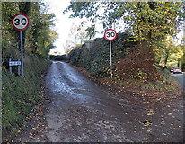 SO4693 : Eastern end of Hazler Road, Church Stretton by Jaggery