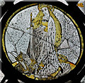 TG2308 : Detail, Stained glass window (ncII), Norwich Cathedral by J.Hannan-Briggs