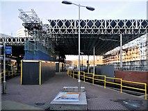 SJ8499 : Construction Work at Victoria Station Metrolink Platform by David Dixon