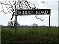 TM3099 : School Road sign by Adrian Cable