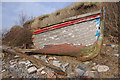 SD2078 : Wrecked boat, Askam-in-Furness by Ian Taylor