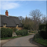 SK8707 : Egleton: a bend in Orchard Close by John Sutton
