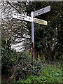 TM2398 : Roadsign on Wood Lane by Adrian Cable