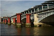TQ3180 : Blackfriars Railway Bridge by Peter Trimming