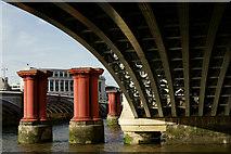 TQ3180 : Under Blackfriars Railway Bridge by Peter Trimming