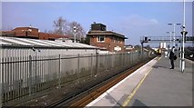 TQ3266 : East Croydon station: north end of platforms and former signal box by Christopher Hilton