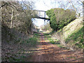 SK6458 : Railway path to Bilsthorpe by Oliver Dixon