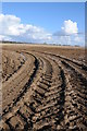 SO9800 : Tyre tracks in a muddy field by Philip Halling
