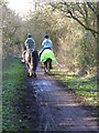 SK6856 : Horse riders on the Southwell Trail by Oliver Dixon