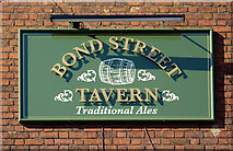 SO9198 : Pub sign in Bond Street, Wolverhampton by Roger  Kidd