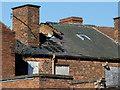SO9198 : Derelict rooftops in Victoria Street, Wolverhampton by Roger  Kidd