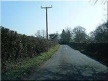 SJ7283 : Chapel Lane near Hulsheath by Colin Pyle