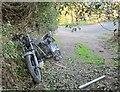 SX4477 : Abandoned motorbike, Lamerton by Derek Harper