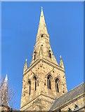 SJ8298 : Salford Cathedral Spire by David Dixon