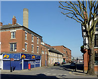 SO9098 : Brewery Road in Wolverhampton by Roger  Kidd