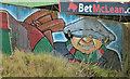 J3674 : Glentoran mural, Belfast by Albert Bridge