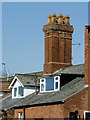 SO9098 : Dormers and chimney stack near Chapel Ash by Roger  Kidd