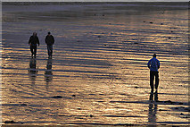 NJ2270 : On the beach at Lossiemouth by Walter Baxter