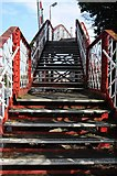 SK8508 : Railway footbridge, Oakham by Philip Halling