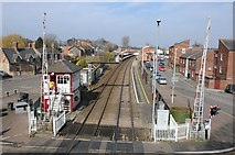SK8508 : Railway at Oakham by Philip Halling