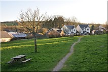 SS9531 : Brompton Regis : Village Green by Lewis Clarke