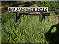 TM3793 : Yarmouth Road sign by Adrian Cable