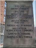 SJ8298 : Boer War Memorial (Inscription) by David Dixon