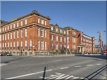 SJ8298 : Chapel Street, The Former Salford Royal Hospital Building by David Dixon