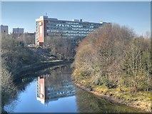 SJ8298 : River Irwell, Salford University by David Dixon