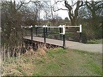 SE5853 : Footbridge at edge of Clifton Ings by David Martin