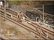 SJ8499 : Temporary Control Box, Metrolink Approach to Victoria Station by David Dixon
