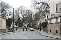 ST5773 : Traffic lights at the junction of Tyndall's Park Road and Whiteladies Road by Rod Allday