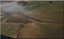 TF4571 : Manor Farm, Claxby St. Andrew: aerial 2014 by Chris