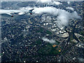 TQ3982 : Plaistow and the Thames from the air by Thomas Nugent
