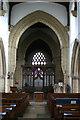 SP9957 : St Mary, Felmersham - west crossing arch by David Kemp