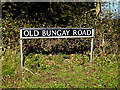 TM3793 : Old Bungay Road sign by Adrian Cable