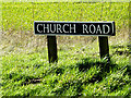 TM3793 : Church Road sign by Adrian Cable