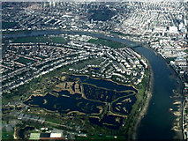 TQ2276 : London Wetland Centre from the air by Thomas Nugent