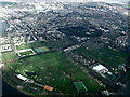 TQ2076 : Duke's Meadows and Chiswick from the air by Thomas Nugent