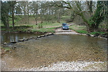 NY6120 : Ford and Stepping Stones at High Whitber by John Walton