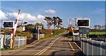SW6138 : Level-crossing at site of former Gwinear Road station, 1995 by Ben Brooksbank