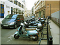 TQ3180 : Motorcycle parking, Lavington Street by Stephen Craven