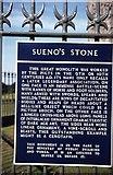 NJ0459 : Information board at Sueno's Stone by Elliott Simpson