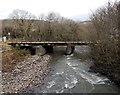 SN9903 : Afon Cynon railway bridge, Aberdare by Jaggery