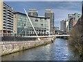 SJ8398 : Trinity Footbridge and Lowry Hotel by David Dixon