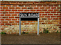 TM3591 : Sun Road sign by Adrian Cable