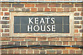 TQ3277 : Tiled name panel, Keats House, Camberwell by Robin Stott
